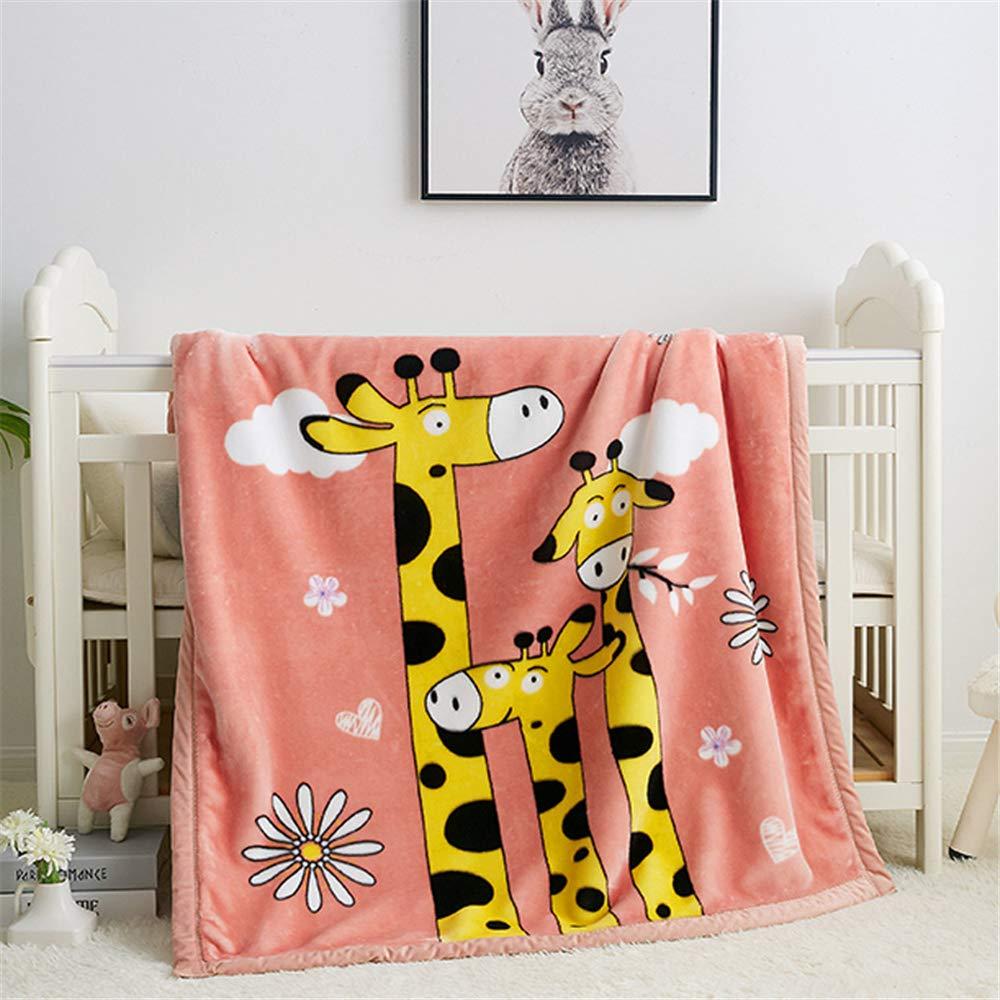 Haustier Cartoon Decke doppel nickerchen Decke Farbe 1 100 LYJZH Super Weich Warm Solide Warm Micro Pl/üsch Kleine Decke Wurf Teppich Sofa Bettw/äsche F/ür Kinder 130 cm