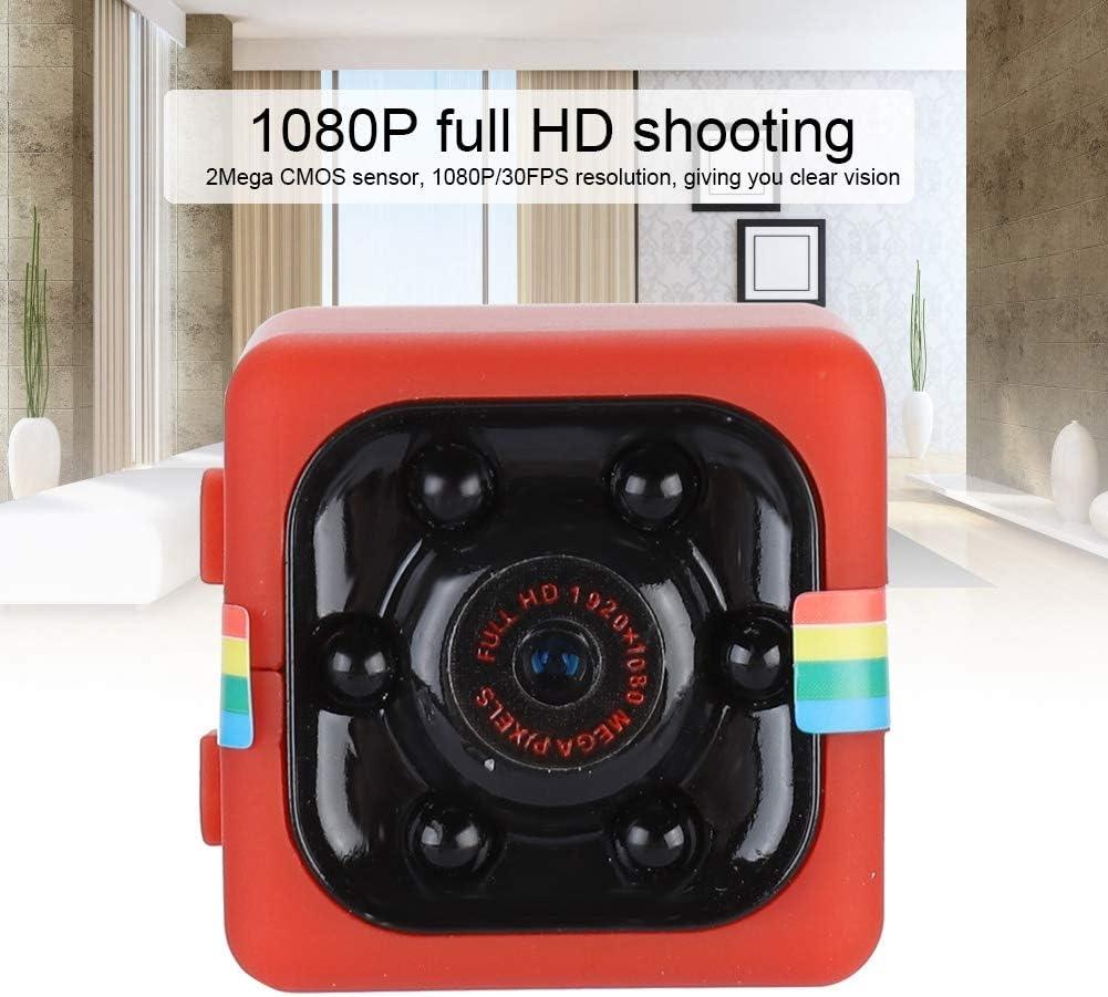 videoregistratore con riduzione del Rumore con Staffa Rotante a 360 /° Mini Telecamera Spia per Visione Notturna 12M Crisis Videocamera Sportiva Full HD 1080P Microfono Integrato
