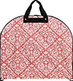 Stylish! Damask Print Garment Bag Travel Luggage Coral