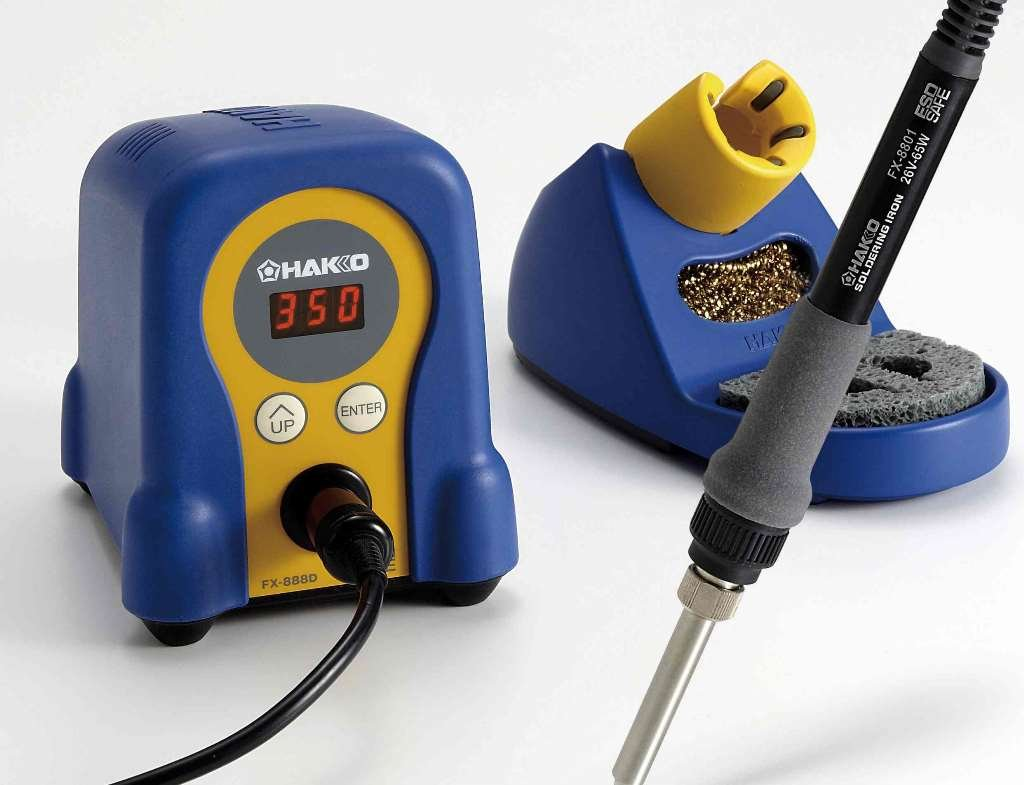 Hakko FX888D29BY/P ESD-Safe Digital Soldering Station w/ FX8801 Soldering Iron and T18D16 Tip (Gold)