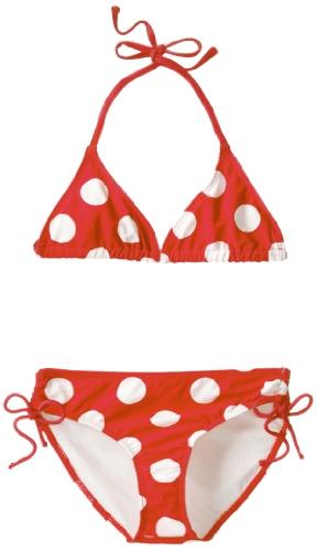 Kanu Surf Big Girls'  Beachball Bikini Swimsuit, Red, 12
