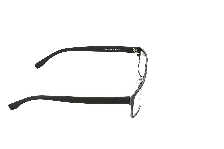 73a1e5bc2c Amazon.com  HUGO BOSS Eyeglasses 0740 0KBQ Black Gray Black 56MM  Clothing