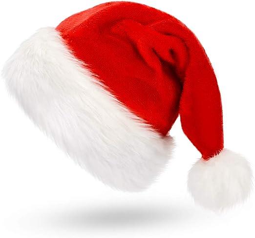 NEW Fashion Santa Claus Hat Plush Velvet Christmas Xmas Holiday Adult Costume