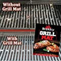 Brekky BBQ Grill Mat - Set of 3 - Teflon Nonstick Grilling Accessory - Perfect for Charcoal, Electric and Gas Grill