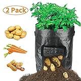 Best Bag Portables - Portable 2-Pack Black Garden Potato Grow Bags Home Review