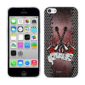 DIY Case Designs Rock Music Genre Soft Gel Back Case Cover for Apple iPhone 5c by ruishername