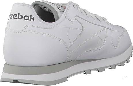 Reebok Classic Leather - Zapatillas de cuero para hombre, color blanco (int-white / lt. grey), talla 42: Amazon.es: Deportes y aire libre
