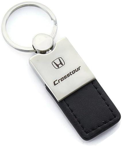 Honda Ridgeline Rectangular Black Leather Key Chain