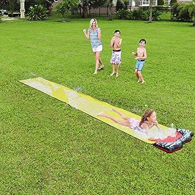 Tobogán acuático, Resbalón de rociado de Agua, Deportes acuáticos Patio Trasero Tobogán acuático Verano Juguetes acuáticos Fiesta de Agua al Aire Libre: Amazon.es: Hogar