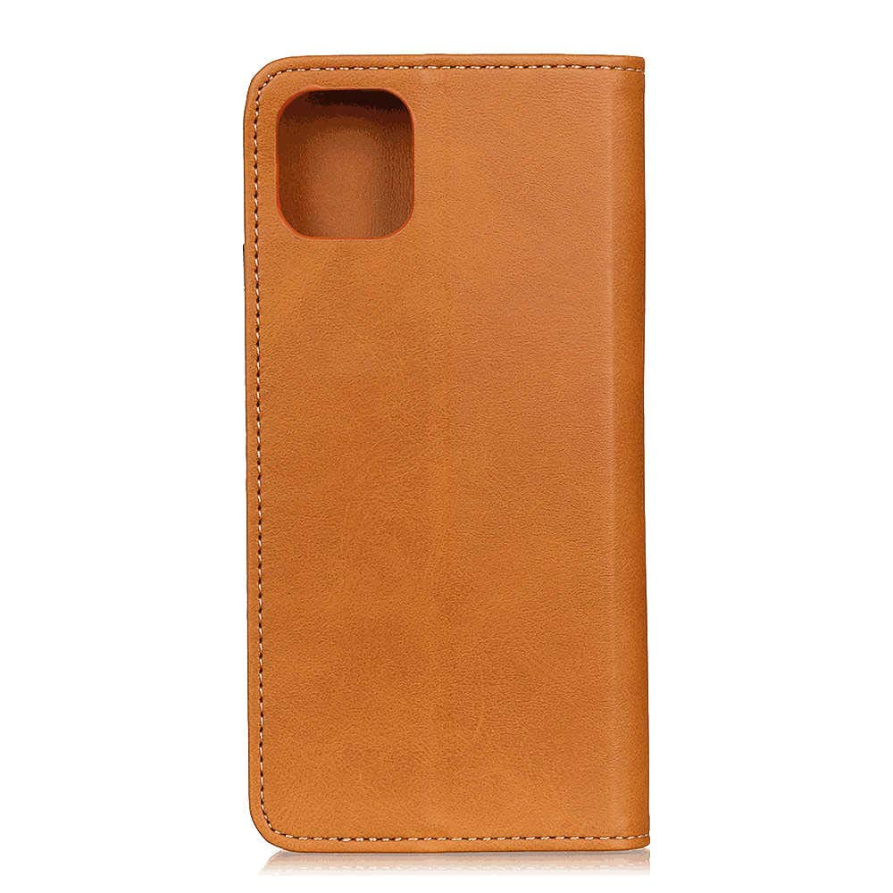 Simple Flip Case Fit for Samsung Galaxy S20 Plus Brown Leather Cover Wallet for Samsung Galaxy S20 Plus