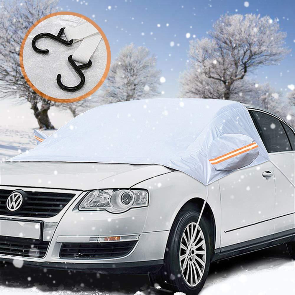 Frontscheibenabdeckung, laxikoo Auto Scheibenabdeckung Windschutzscheibe Abdeckung Faltbare Abnehmbare Auto Abdeckung fü r die Windschutzscheibe gegen Schnee, Frost, EIS, Sonne, und Staub