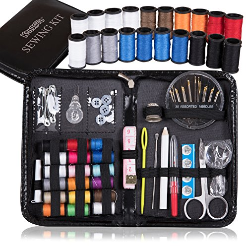 Kangaroo's Professional Sewing Kit – Over 95 Items; Travel Sewing Kit