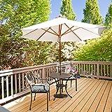 """Giantex 20"""" Outdoor Patio Half Round Umbrella Base"""