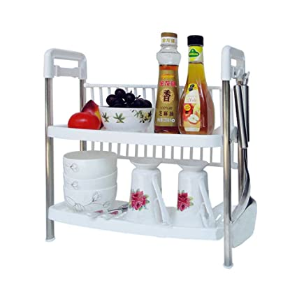 Kitchen Racks And Shelves Kitchen Rack Two Layers Kitchen Storage Rack Shelf  Of Plastic And Stainless