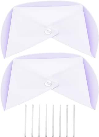 Kasteco 2 Pack White Nurse Hat Headband Nurse Cap Costume and 8 Pins