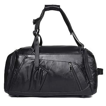 WUZHENG 3-en-1 Cuero Duffle Bolsas para los Hombres de Viaje ...