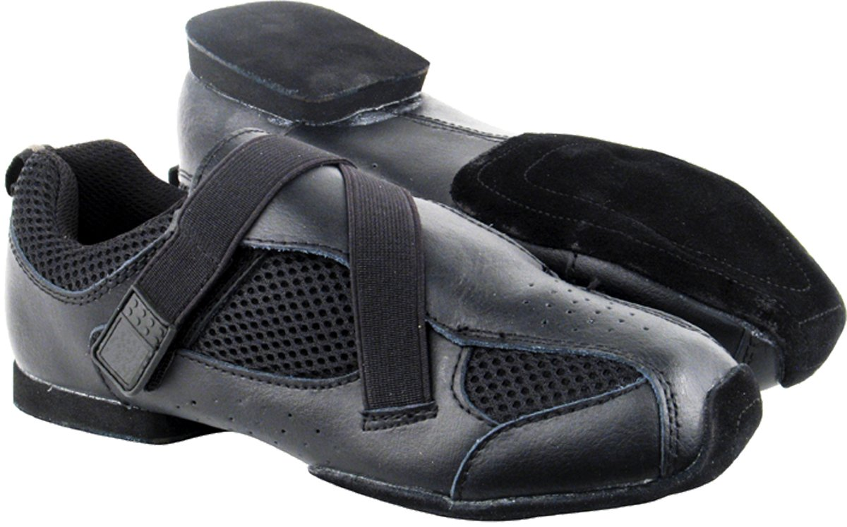 Very Fine Men's Women's Salsa Ballroom Latin Zumba Hip Hop Dance Sneakers Style VFSN009 Bundle with Dance Shoe Wire Brush, Black 12 M US (US Women 12/ US Men 10.5) by Very Fine Dance Shoes (Image #8)