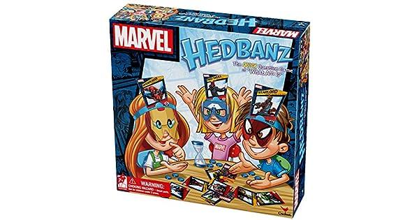 Amazon.com: Juego de mesa Marvel Hedbanz: Toys & Games