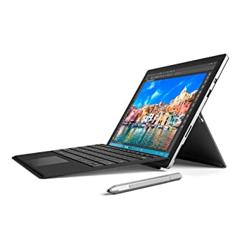 Microsoft Surface Pro 4 12 3 inch Tablet with Keyboard (Black) and Pen  (Silver) (Intel Core i5-6300U 2 4 GHz, 4 GB RAM, 128 GB SSD, Integrated