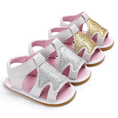 Newborn Baby Girl Soft Sole Shoes Infant Toddler Summer Sandals