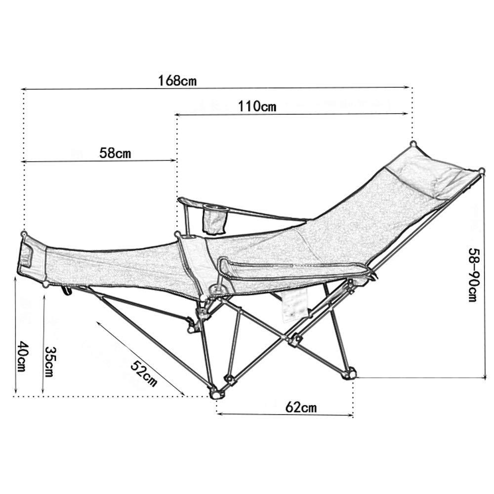 ZXL fällstol, sängstol sängram justerbar hopfällbar säng camping utrustning tvillingsängram tunglöshet stol vardagsrum stol stol/fällstol utomhus/kan sitta/kan sova (färg: Orange