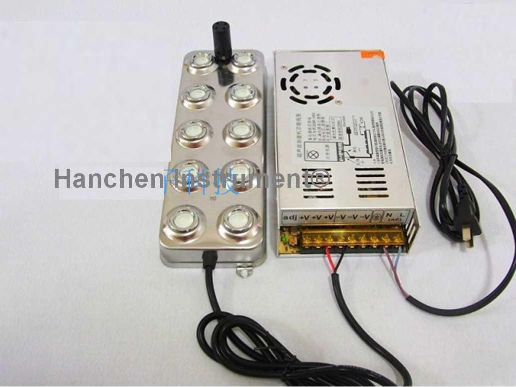Hanchen Instrument Industrial Ultrasonic Mist Maker Fogger 10 Head Humidifier Transformer 5kg/h