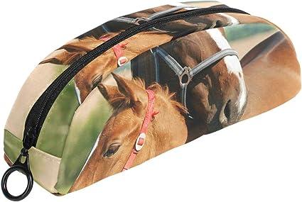 FANTAZIO - Estuche para maquillaje de caballo y poni para niñas: Amazon.es: Oficina y papelería