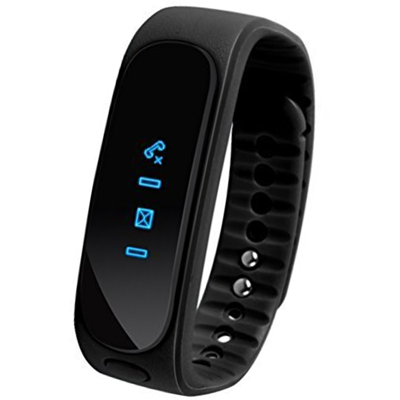 momcare® Portátil Reloj Negro seguro E02 Bluetooth Impermeable IP57 inalámbrico llamadas deportes Ejercicio mensaje tarea recordatorio Sleep Tracker ...