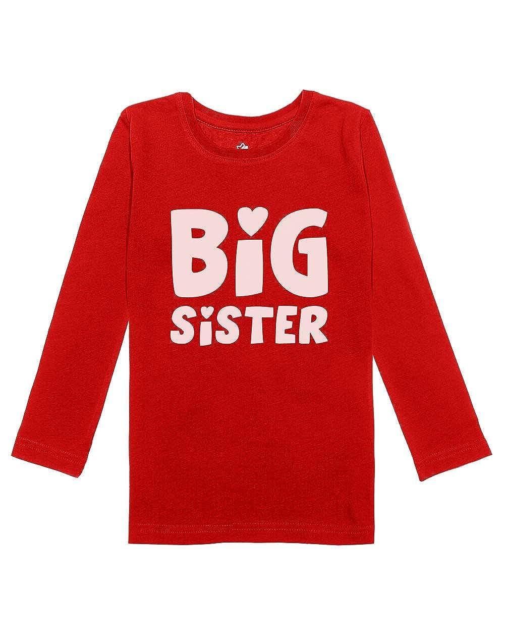 Big Sister - Elder Sibling Gift Idea Cute Girls Toddler Long Sleeve Fitted T-Shirt GM0thagCw