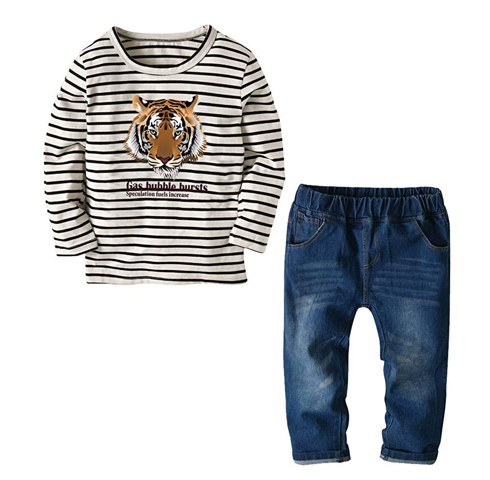 JANYN Baby Boy Clothes Sets Long Sleeve O-Neck Printing Outfits