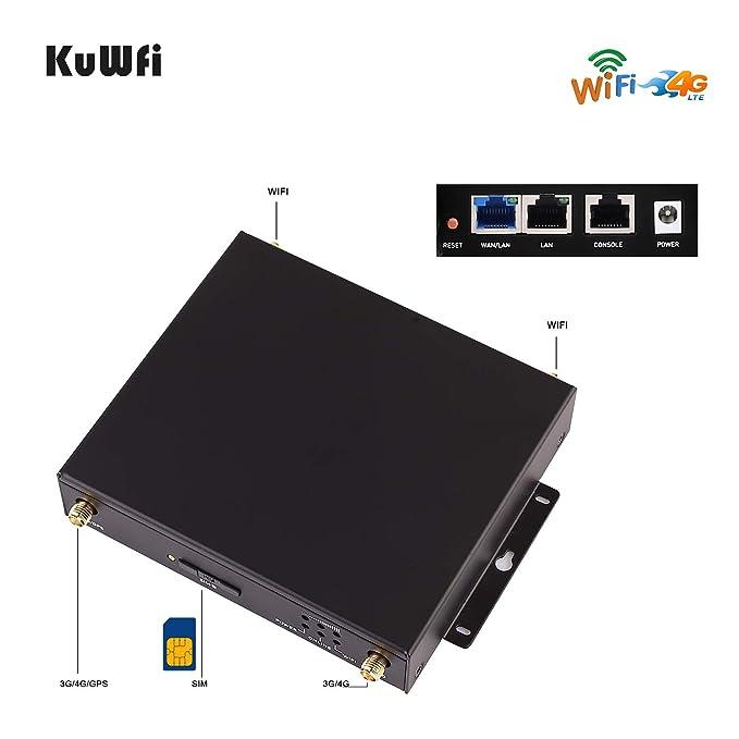 KuWFi Enrutador Inalámbrico WiFi, Enrutador inalámbrico 4G ...