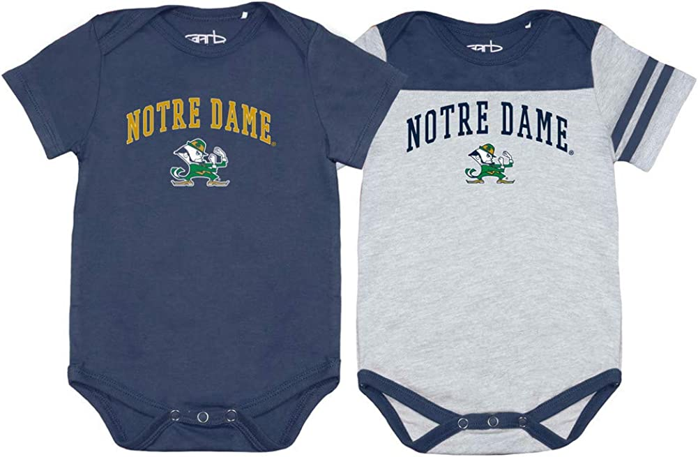 Elite Fan Shop NCAA Infant//Baby Snap Onesie Two Pack