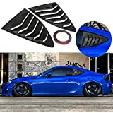 DTOUCH Racing 2 Piece ABS 2 Piece Window Left/Right Carbon Fiber Exterior Racing Style Rear Side Window Vent/Louvers for…