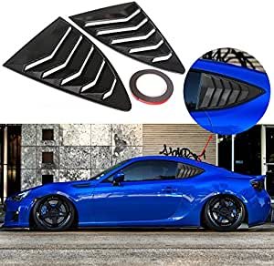 CAR CANT FLY 1 Pair Matte Finish Racing Style Rear Side Window Vent//Louvers for 2013-up Subaru BRZ Scion FR-S and Toyota 86