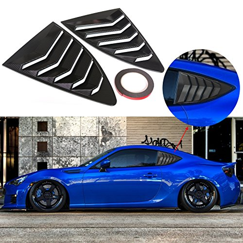 Rear Window Louver Matte Black Window Visor Sun Shade Cover Vent ABS Windshield Cover for 2012-2018 Subaru BRZ//Scion FR-S//Toyota GT86