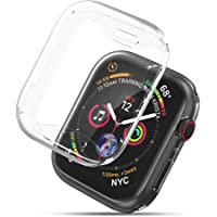UGREEN Clear Protective Case Compatible For Apple Watch Series 4 44mm,2 Pack TPU Ultra Thin iWatch 4 Full Cover Screen Protector,Crystal,Anti Scratch,All Around Protection,Easy to Fit,High Sensitivity