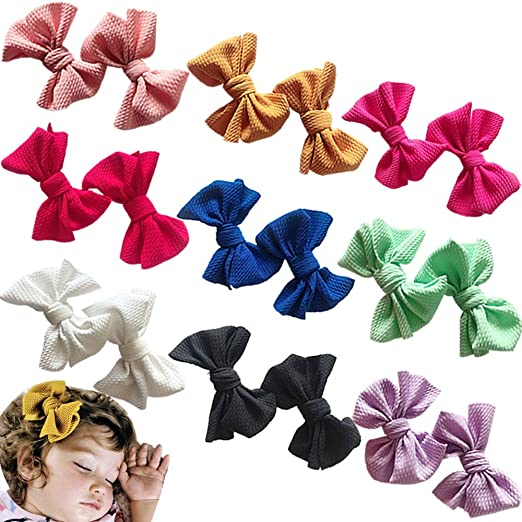 dd99c79fa0ff7 Baby Girl Hair Bow Set Spring Floral Print Bows Headbands Clip Alligator  Hair Clips for Toddlers Kids