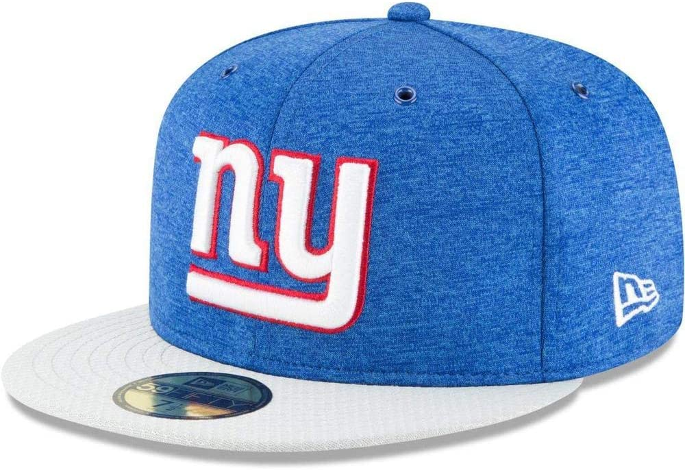 New Era NFL New York Giants Authentic 2018 Sideline 59FIFTY Home Cap