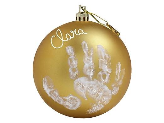 172 opinioni per Baby Art Pallina di Natale in Plastica, Set per Disegnare Impronta Bambino, Oro