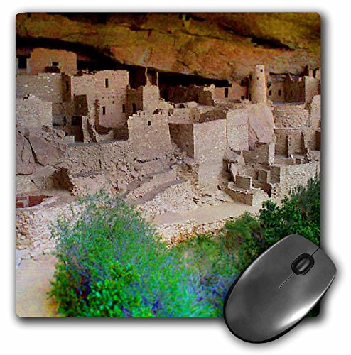 - 3dRose Jos Fauxtographee Miniature - The Mesa Verde Indian Dwellings in Colorado in The Mountains in Miniature - MousePad (mp_57973_1)