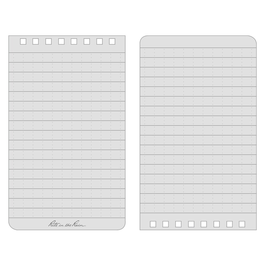 Rite in the Rain Weatherproof Top-Spiral Notebook, 3'' x 5'', Black Cover, Universal Pattern (No. 735) by Rite In The Rain (Image #5)