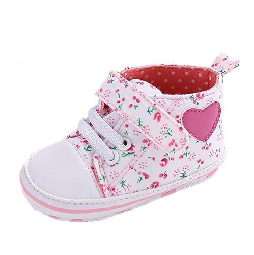 Por 0-18 meses bebé, Auxma Zapatos de Bowknot de la forma del corazón del zapato (12-18 M)