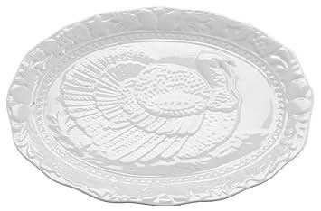 hic turkey oversized serving platter embossed
