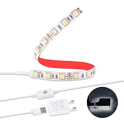 Luz LED para Máquina de Coser Sunix, Set de Tiras de Luces con Regulador Táctil