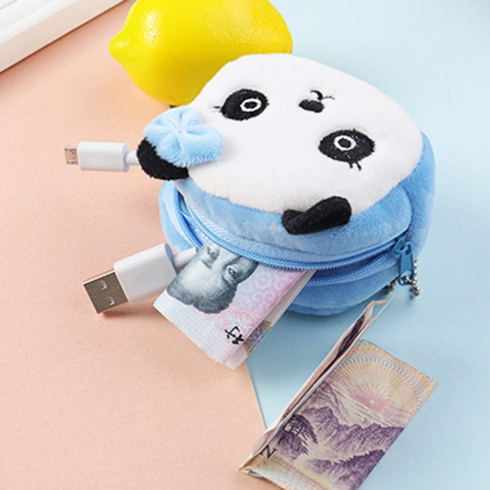 osmanthusFrag Peluche Mignonne Panda Animal Petite Pi/èce Bourse Bourse dargent Porte-Monnaie Enfants Cadeau danniversaire Blue Panda ##