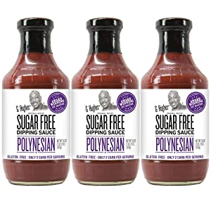 G Hughes Sugar Free Polynesian Sauce (3 pack) | Dipping Sauce with Sweet, Sour, Tangy Flavors that's Gluten-Free, Low Carb, Vegetarian | Fits Reduced Sugar Lifestyles