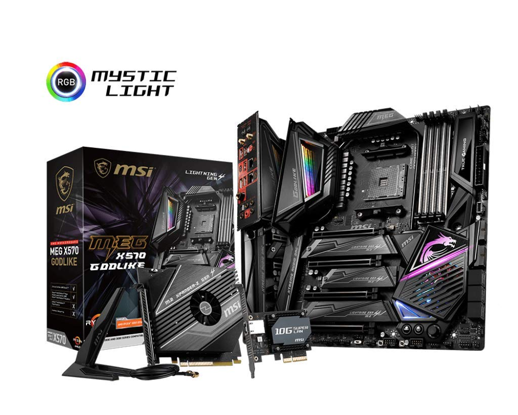 Msi Meg X570 Godlike Motherboard (amd Am4, Pcie 4.0, Ddr4...
