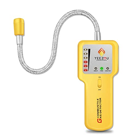 Combustible Gas Leak Detector, Natural Gas Detector,Propane Gas Leak Detector,Portable Gas Leak Sniffer Detector,Gas Monitor Detector,CE Certified,Sound LED Warning, Flexible Sensor Neck