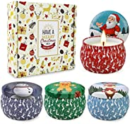 Scented Candles Gifts Set for Women,Aromatherapy Candles for Home Scented,4.4Oz Soy Wax Jar Candle for Brithda