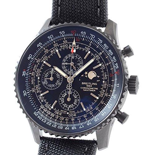 [ブライトリング]BREITLING 腕時計 ナビタイマー1461ブラックスティールリミテッド M198B20MMA 中古[1307854]ブラック 付属:国際保証書 ボックス COSC/限定証/ピン B07DXWG8XF